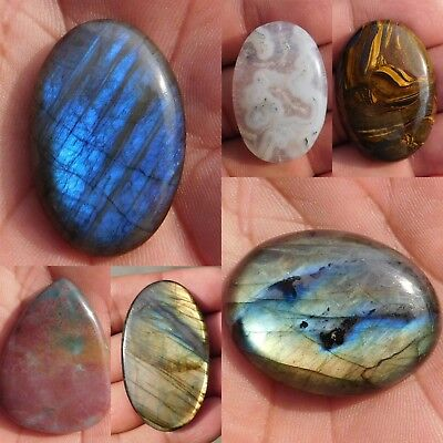 100% Natural Mix Stone Loose Cabochon Gemstone 3