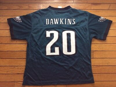 b9fe691a6 PHILADELPHIA EAGLES Brian Dawkins #20 Green Youth Jersey Size Large NFL  Reebok