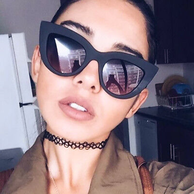 Sexy Women Cat Eye Sunglasses Vintage Leopard Frame Clear Lens UV400 Eyeglasses