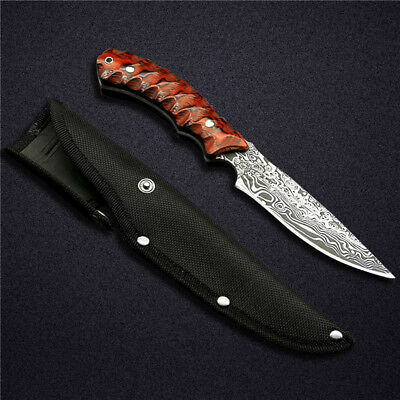 Handmade Hunting Knife Custom Forge Hand Stainles Steel Knives Fixed Blade