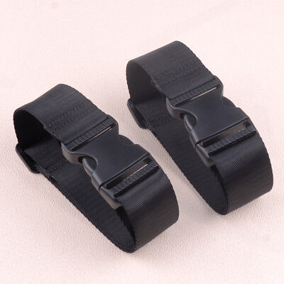 2pcs Adjustable Add a Bag Luggage Buckle Strap Attachment Connector Travel