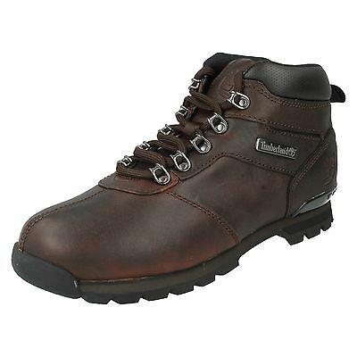 Chaussures Boots Timberland Homme Split Rock Taille Brun brune Cuir Lacets 50