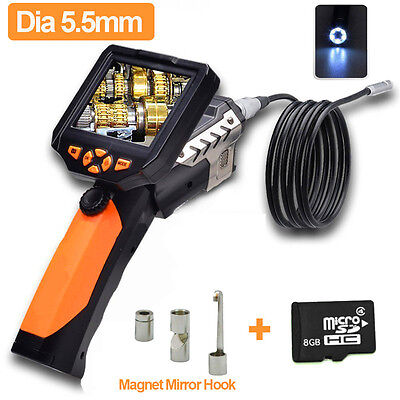 """3.5 """"Endoscope LCD Pipe Tube 5.5mm Serpent LED HD Inspection Caméra + 3 Kits"""