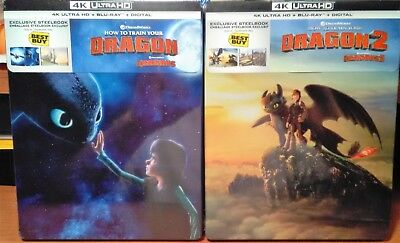 How To Train Your Dragon 1 & 2 [Steelbooks] [4K+Blu-ray+Digital] Now Available!