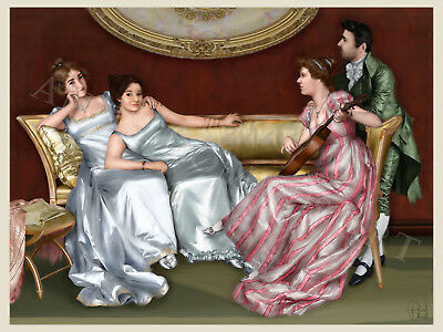 Music Lessons - Parlour Scene Painting
