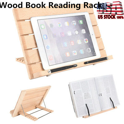 Lazy Wan Hands Free Tablet Book Reading Holder Stand Bracket Rack W. Page Clip