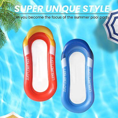 Water Hammock Pool Lounge Bed Inflatable Float Summer Swim Floating Chair Toy V2