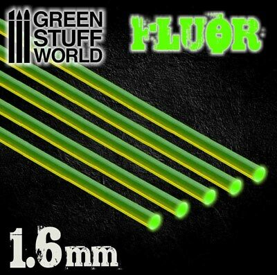 Tiges Acryliques ROND 1,6 mm Fluor Vert - Tige Volante Warhammer Miniatures