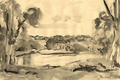 Vernon Wethered, Bibury Court,Cirencester - Early 20th-century watercolour