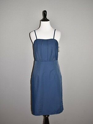 561344342d TEVOLIO FOR TARGET NEW  50 Blue Woven Bridesmaid Sheath Dress Size 4