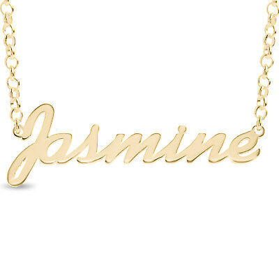 d3fb6e5935572 PERSONALISED GOLD PLATED Arabic Name Necklace Sterling Silver ...