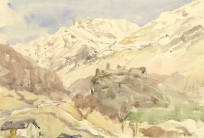 Vernon Wethered, Mesocco Castle, Switzerland - Early 20th-century watercolour