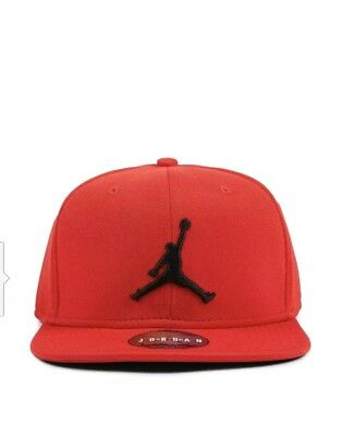 c07dbf155aa Nike Air Jordan Jumpman Snapback Hat Flat Baseball Cap Red - One Size (861452-