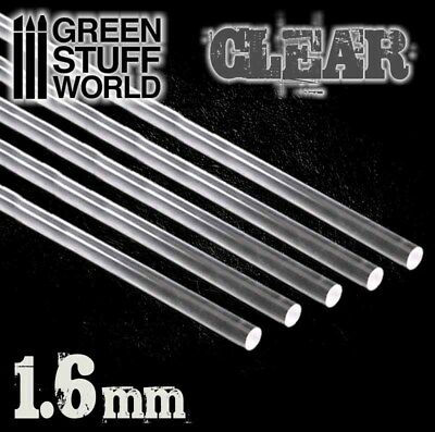 Acrylic Rods Flying Stem Small Flyers Warhammer Round 3 mm CLEAR