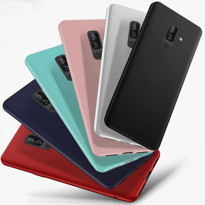 Candy Color Matte Skin Silicone Soft TPU Case Cover For Samsung A6 A8 J4 J6 A750