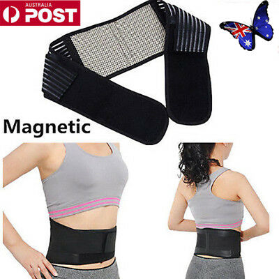 Magnetic Back Lumbar Support Magnets Pain Relief Brace Belt Strap Protect Hot UE