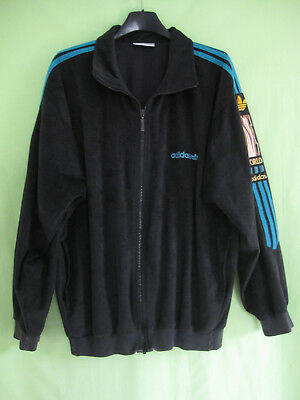 VESTE ADIDAS ONE World Noire verte Vintage Jacket 80'S Made