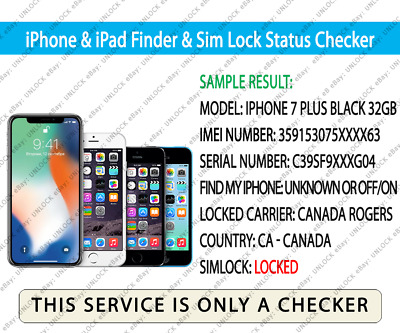 CHECK IMEI IPHONE & iPad Network Finder & Sim Lock Status GSX Checker