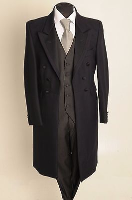 Mj-22-2 Mens & Boys Navy Frock Coat 2Piece Suit 100% Wool Wedding/Steam/Punk