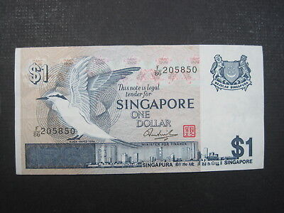 Singapore $1 Dollar 1976 P9 22# Bank Currency Money Banknote
