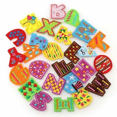 Letter Patch Patches Iron on / Sew on Retro Alphabet Embroidery Clothes Children