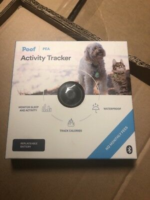 Poof PEA Pet Activity Tracker Black Bluetooth No Monthly Fees New Cat Dog Collar