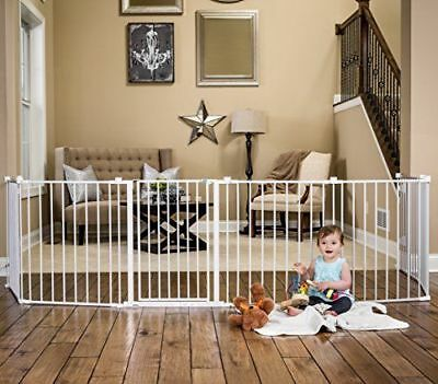 Regalo 192-Inch Super Wide Adjustable Baby Gate and Play Yard, 4-In-1, Bonus 4