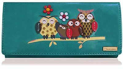 Kukubird Owl Feature Embroidery Patch Family Tree Pattern Purse Clutch Wallet