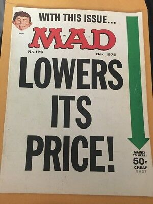 MAD Magazine No 179 With This Issue Mad Lowers Its Price Dec. 1975