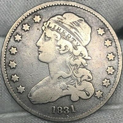 1831 25C Capped Bust Quarter || All Original w/ Great Detail. Great for an album