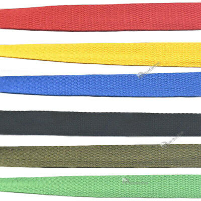 """25 38mm 1"""" 1.5"""" Cotton Webbing Ribbon Woven Roll Buckle Strap Hook Sewing Craft"""