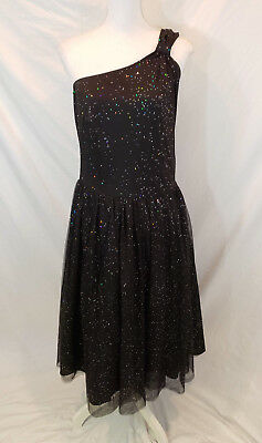 c6120c521ef Torrid Size 14 Black Sparkle Party Dress One Shoulder Glitter Dance Cruise  H2