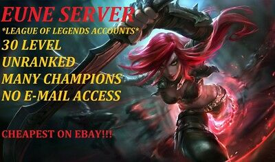 League Of Legends Account Lol Account 30 Level Unranked Eune No Mail Access