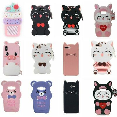 For Samsung S9 10Plus Note8 9 J3 5 7Prime 3D Cartoon Silicone Phone Case Covers
