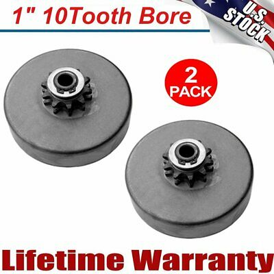 "2 Packs Centrifugal Clutch, Go-kart Mini Bike 1"" Bore 10T , 40/41/420 Chain HS"