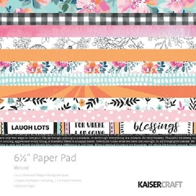 "Kaisercraft 'BLESSED' 6.5"" Paper Pad Floral/Flowers/Bright Designs KAISER PP1059"