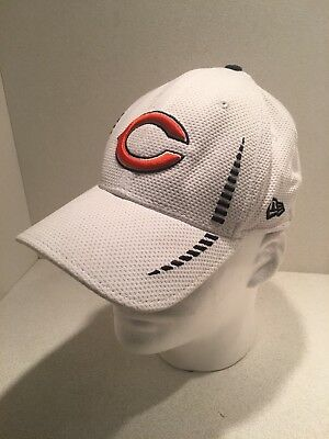 Chicago Bears New Era Neo NFL 39THIRTY Stretch Cap Flex Hat White 3930 S m b22abca88