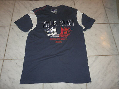 True Religion M Medium Men's T-Shirt Shirt Blue Athletic Dept 2002 Vintage