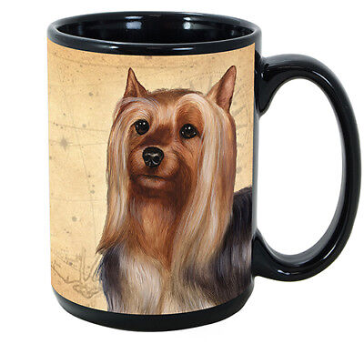 Silky Terrier Faithful Friends Dog Breed 15oz Coffee Mug Cup