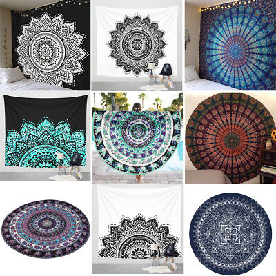 Bohemian Mandala Indian Tapestry Hippie Wall Hanging Bedspread Mat Blanket Decor