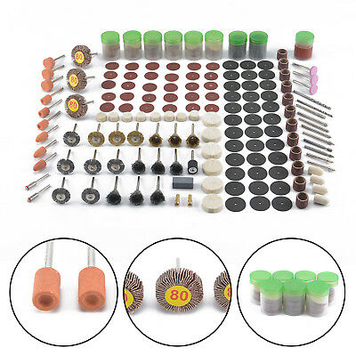 New 340 PCS Rotary Tool Accessory Set Polishing Drill Accessories Grinder Set