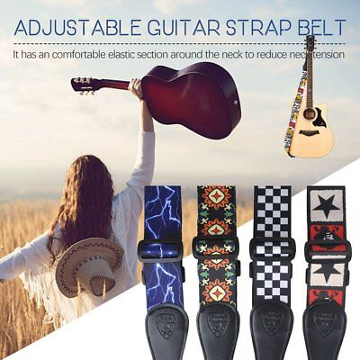 Adjustable Guitar Straps for Electric Acoustic Bass Soft Thick Ukulele Strap MG