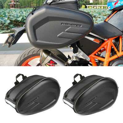 UK Universal Motorcycle Pannier Side Bags Luggage Saddle Bags Rain Cover 36-58L