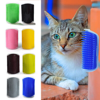 Pet Cat Self Massage Face Groomer Rubs Tickling Corner Brush Hairdresser Comb