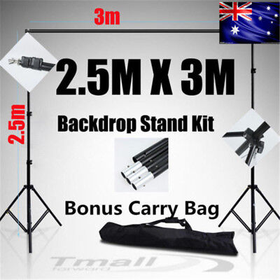 2.5X3M Photography Studio Heavy-Duty Backdrop Support Screen Background Stand-AU