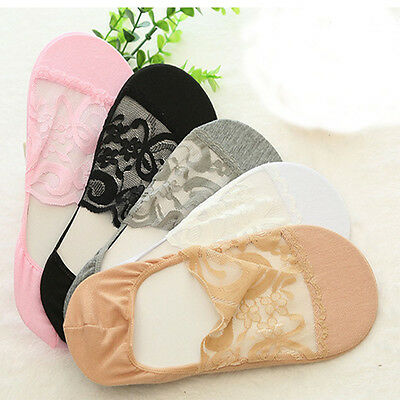 1 Women Lady Girls No Show Summer Invisible Low cut Foot Boat Lace short Socks