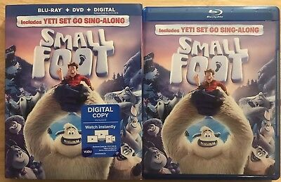 Smallfoot Blu Ray + Dvd 2 Disc Set With Slipcover Sleeve Include Yeti Sing Along