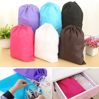 Waterproof Non-woven Drawstring Bag Travel Wash Pouch Shoe Clothes Storage CA IL