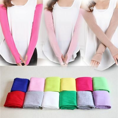 Cosy Women Girl Necessary Arm Warmer cotton Long Fingerless Gloves 20 Colors