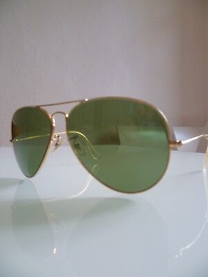 e7b99aca880ead VINTAGE 70S RAY Ban USA B L CARAVAN Gold Aviator Square 58 16 mm ...